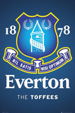 Everton FC - The Toffees Club Crest Julisteet