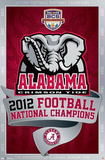Alabama Crimson Tide 2012 Football National Champions Pôsters