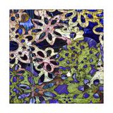 Bejeweled Woodblock III Premium Giclee Print by Ricki Mountain