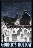 Godric&#39;s Hollow Retro Travel Prints