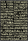 National Hockey League Cities Vintage Style Posters