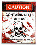 Zombie Contamination Sign Tyvek Mighty Case Tablet Laptop Case