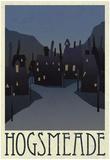 Hogsmeade Retro Travel Plakater