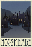 Hogsmeade Retro Travel Poster