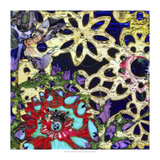 Bejeweled Woodblock IV Premium Giclee Print by Ricki Mountain