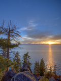 Sunset at Logan Shoals on the East Side of Lake Tahoe, Nevada, USA Photographic Print by Tom Norring