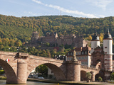 The Alte Brucke or Old Bridge and Neckar River in Old Town, Heidelberg, Germany Photographic Print by Michael DeFreitas