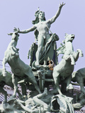 The Quadriga Sculpture at the Grand Palais, Paris, France Photographic Print by William Sutton