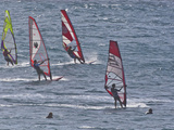 Windsurfers, Hookipa Beach Park, Maui, Hawaii, USA Photographic Print by Cathy & Gordon Illg