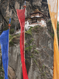 Prayer Flags, Tiger&#39;s Nest, Bhutan Photographic Print by Dennis Kirkland