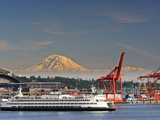 Ferry Leaving Seattle, Seattle, Washington, USA Photographic Print by Richard Duval