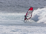 Windsurfer, Hookipa Beach Park, Maui, Hawaii, USA Photographic Print by Cathy & Gordon Illg