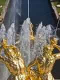 Grand Cascade Fountains, Peterhof, Saint Petersburg, Russia Photographic Print by Walter Bibikow