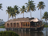 Houseboat on the Backwaters of Kerala, India Photographic Print by Keren Su