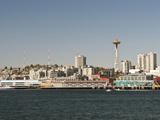 View from Bainbridge Island Ferry Departing, Seattle, Washington, USA Photographic Print by Trish Drury