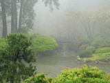 Portland Japanese Garden Fogged In: Portland, Oregon United States of America, USA Photographic Print by Michel Hersen