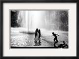 Fountain Play Framed Photographic Print by Evan Morris Cohen