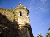 Watchtower, Fort San Felipe Del Morro, San Juan, Puerto Rico, USA, Caribbean Photographic Print by Miva Stock