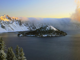 Crater Lake at Dawn, Crater Lake National Park, Oregon, USA Photographic Print by Michel Hersen