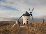 La Mancha Windmills, Consuegra, Castile-La Mancha Region, Spain Photographic Print by Walter Bibikow