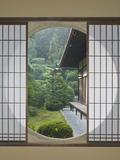 Tea House Window, Sesshuji Temple, Kyoto, Japan Fotodruck von Rob Tilley