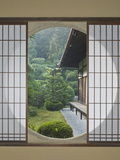 Tea House Window, Sesshuji Temple, Kyoto, Japan Photographic Print by Rob Tilley