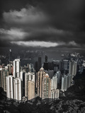 View from the Peak, Hong Kong, China Photographic Print by Julie Eggers