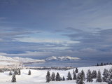 Looking Down onto Flathead Lake after Fresh Snowfall in Elmo, Montana, USA Photographic Print by Chuck Haney