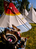 Nez Perce Indian Encampment in Town of Joseph, Wallowa County, Northeastern Oregon, USA Photographic Print by Nik Wheeler