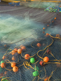 Fishing Boat and Fishing Net on the Beach, Goa, India Photographic Print by Keren Su