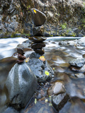 Stacked Rock Formations in the South Fork of the Walla Walla River, Milton-Freewater, Oregon, USA Photographic Print by Brent Bergherm