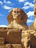 The Sphinx and Chefren Pyramid, Giza, Cairo, Egypt Photographic Print by Miva Stock