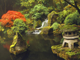 Portland Japanese Garden in Autumn, Portland, Oregon, USA Photographic Print by Michel Hersen