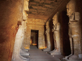 Statues, the Greater Temple, Abu Simbel, Egypt Photographic Print by Miva Stock