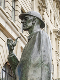 Statue of Sherlock Holmes, Baker Street, London, England Photographic Print by Alex Bartel