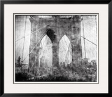 Brooklyn Bridge in Verichrome Framed Photographic Print by Evan Morris Cohen