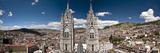 Panoramic View of the Bell Towers at the National Basilica, Quito, Ecuador Fotografie-Druck von Brent Bergherm