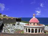 Cemetary, Fort San Felipe Del Morro, San Juan, Puerto Rico, USA, Caribbean Photographic Print by Miva Stock