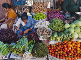 Selling Fruit in Local Market, Goa, India Photographic Print by Keren Su