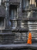 Monk at Angkor Wat, Cambodia Photographic Print by Keren Su
