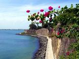 Waterfront Walkway, Fort San Felipe Del Morro, San Juan, Puerto Rico, USA, Caribbean Photographic Print by Miva Stock