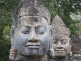 Buddhist Statues at the South Gate of Angkor Thom, Cambodia Photographic Print by Keren Su