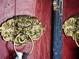 Dragon Head Door Grip, Likir, Ladakh, India Photographic Print by Anthony Asael