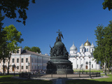 Millennium of Russia Monument, Novgorod Oblast, Veliky Novgorod, Russia Photographic Print by Walter Bibikow