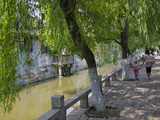 Traditional Houses Along the Grand Canal in the Water Town, Fengjing, Shanghai, China Photographic Print by Keren Su
