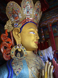 Golden Maitreya Buddha, Thiksey Monastery, Thiksey, Ladakh, India Photographic Print by Anthony Asael