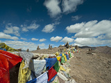 Buddhist Prayer Flags, Markha Valley, Ladakh, India Photographic Print by Anthony Asael