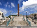 View of El Totem in Plaza Del Totem, Plaza Del Quinto Centenario, San Juan, Puerto Rico, USA Photographic Print by Miva Stock