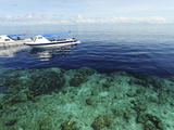 Diving Boat, Sipadan, Semporna Archipelago, Borneo, Malaysia Photographic Print by Anthony Asael