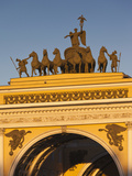 Dvortsovaya Square at Sunset, Saint Petersburg, Russia Photographic Print by Walter Bibikow